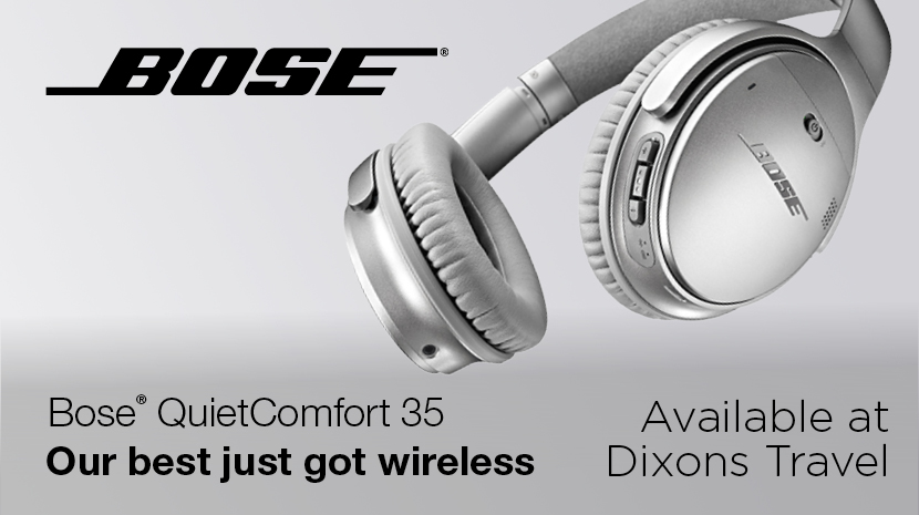 Bose QuietComfort 35 Now Available From Dixons Travel At Stansted Airport
