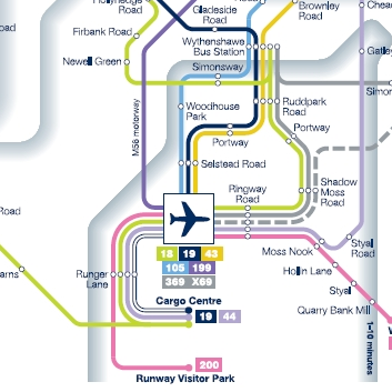 Bus Network to and from Manchester Airport