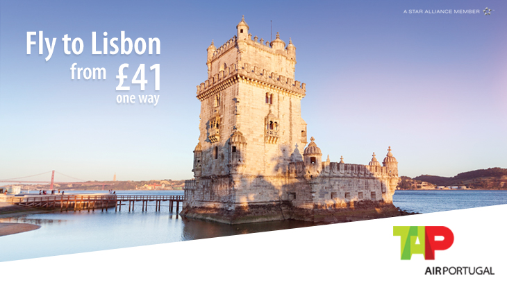 Lisbon from Manchester Airport from £41 one way