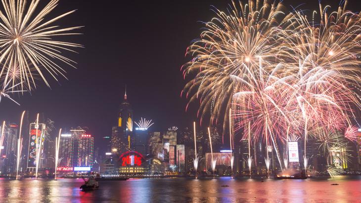 Hong Kong New Year Skyline