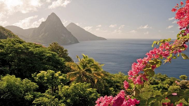 Saint Lucia Piton seascape