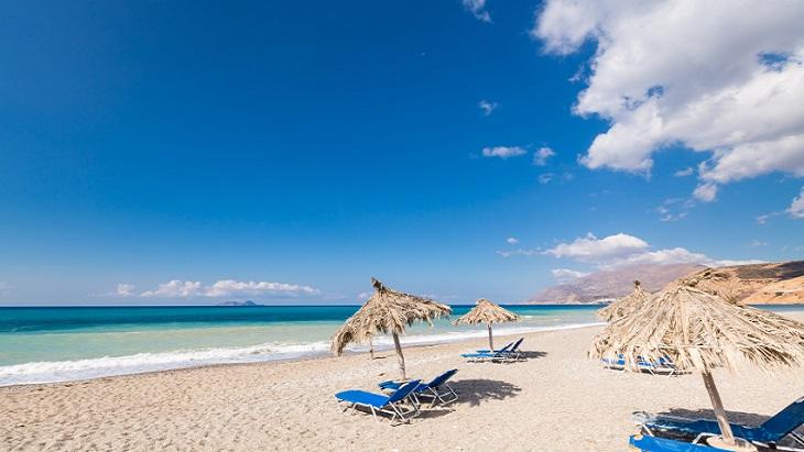 Tranquil beach, Crete