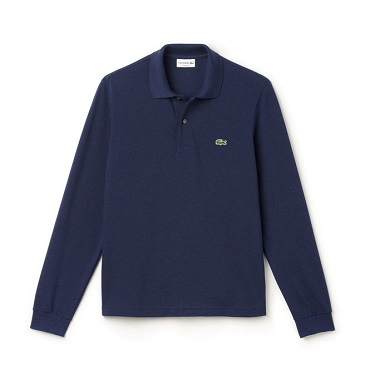 Polo Lacoste in marl petit piqué