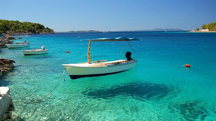 Dalmatian Coast boat scene