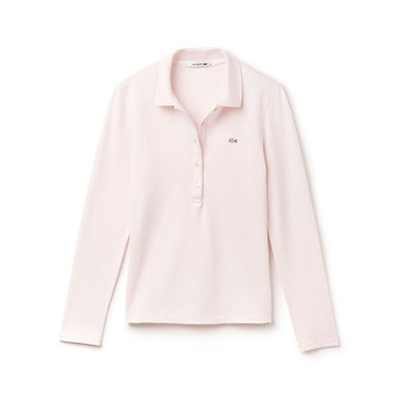 Slim fit Lacoste long-sleeve polo