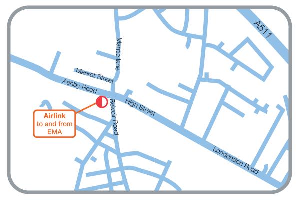 Coalville Bus Map