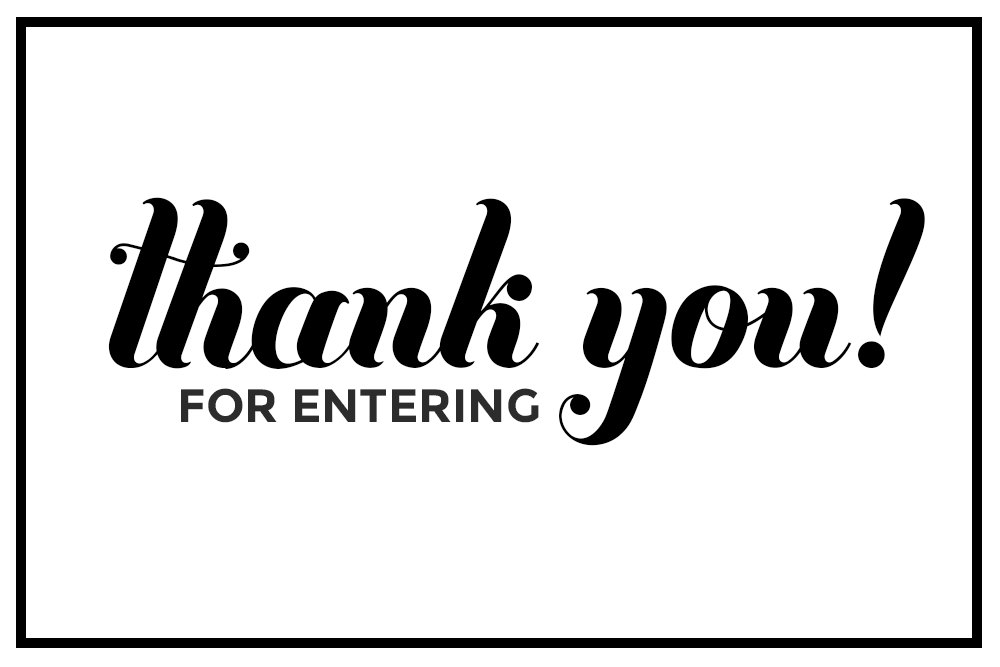 Thank you from entering