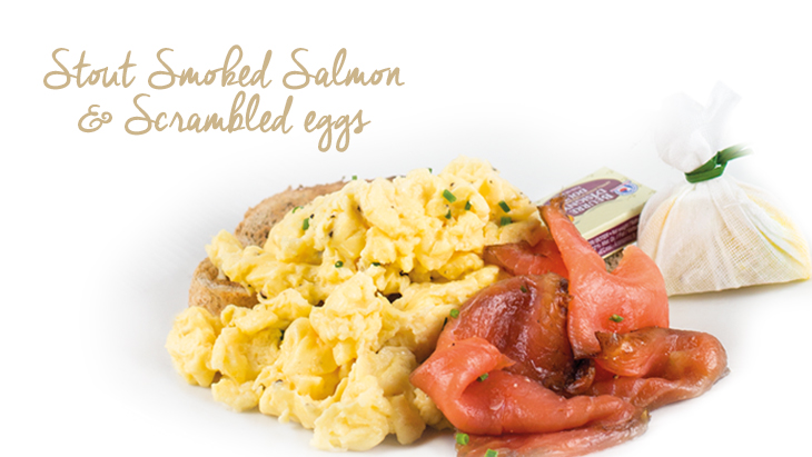Stout Smoked Salmon and Scrambled Eggs
