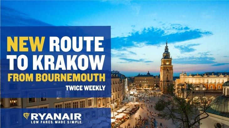 Ryanair Route to Krakow
