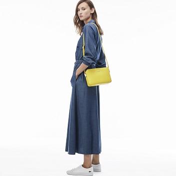 Women's Chantico Pique Leather Square Crossover Bag