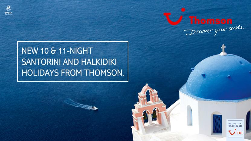 Santorini and Halkidiki Holidays from Thomson