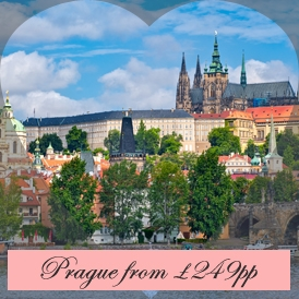 Romantic Valentines Escapes in Prague from London Stansted Airport