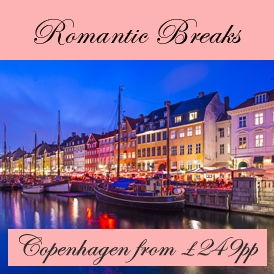 Romantic Valentines Escapes in Copenhagen from London Stansted Airport