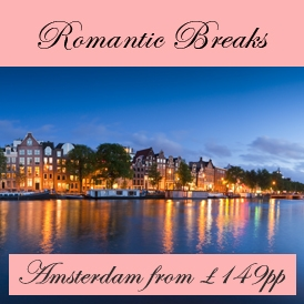 Romantic Valentines Escapes in Amsterdam from London Stansted Airport